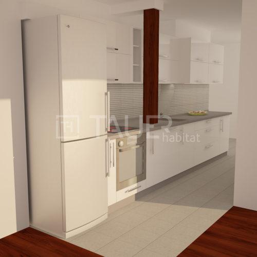 Vizualizace kuchyně od TAUER habitat 37