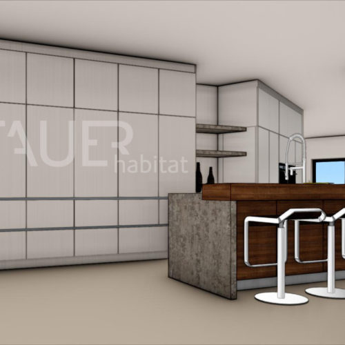 Vizualizace kuchyně od TAUER habitat 17