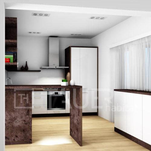 Vizualizace kuchyně od TAUER habitat 33