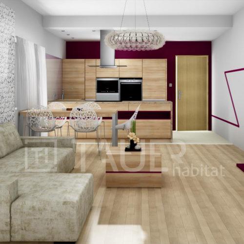 Vizualizace obývacího pokoje od TAUER habitat 30