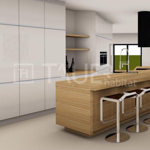 Vizualizace kuchyně od TAUER habitat 20