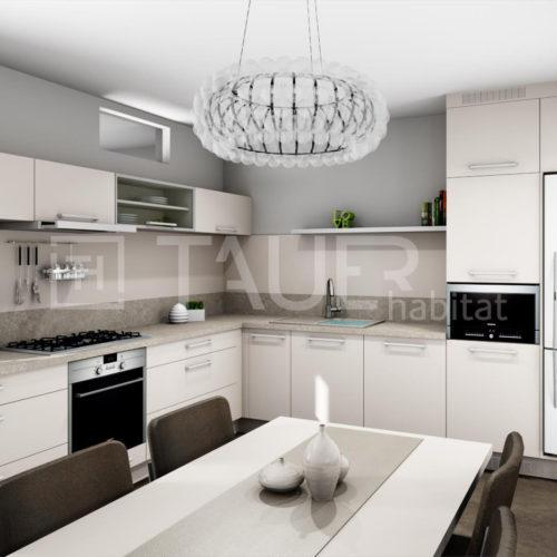 Vizualizace kuchyně od TAUER habitat 29