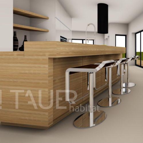 Vizualizace kuchyně od TAUER habitat 19