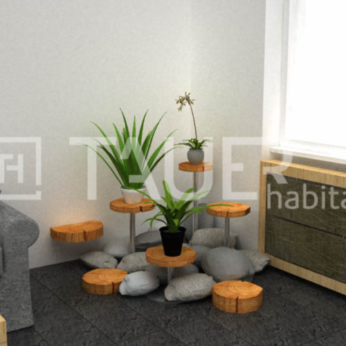 Vizualizace obývacího pokoje od TAUER habitat 41