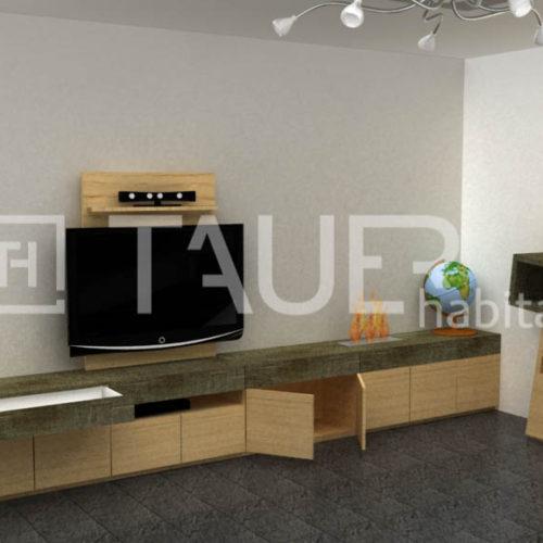 Vizualizace obývacího pokoje od TAUER habitat 42