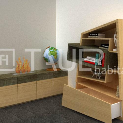 Vizualizace obývacího pokoje od TAUER habitat 43