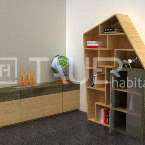 Vizualizace obývacího pokoje od TAUER habitat 44