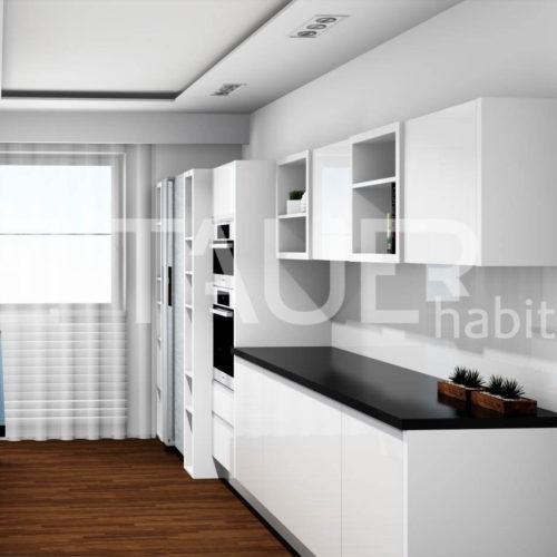 Vizualizace kuchyně od TAUER habitat 56