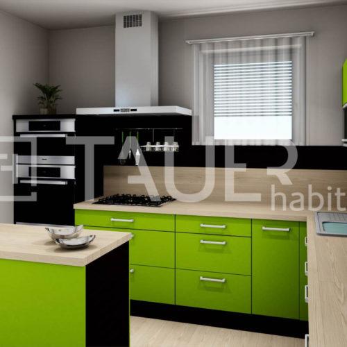 Vizualizace kuchyně od TAUER habitat 63