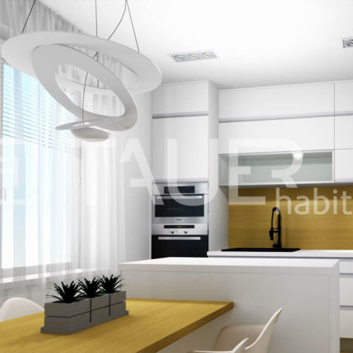 Vizualizace kuchyně od TAUER habitat 67
