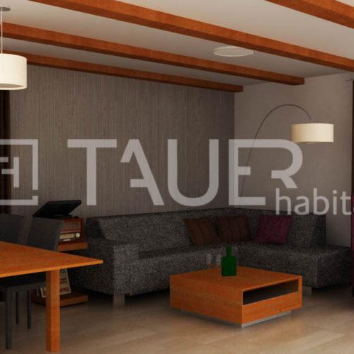 Vizualizace obývacího pokoje od TAUER habitat 75