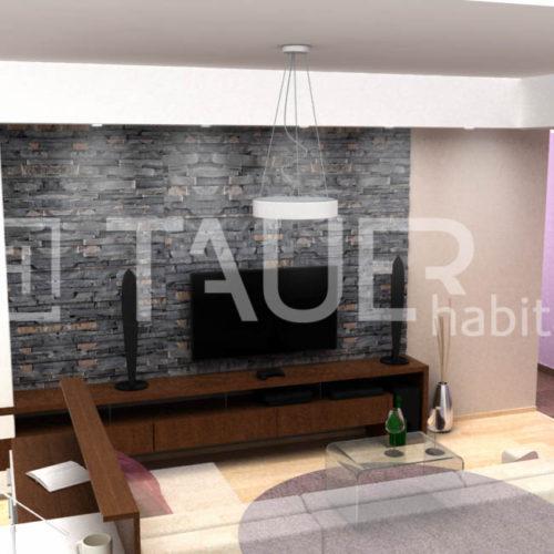 Vizualizace obývacího pokoje od TAUER habitat 79