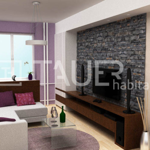 Vizualizace obývacího pokoje od TAUER habitat 16