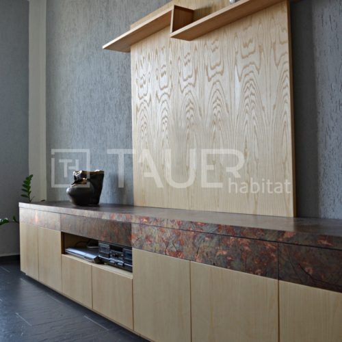 Designová televizní stěna od TAUER habitat 39