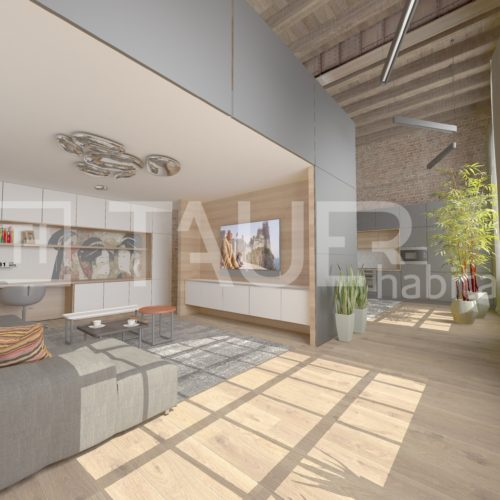 Vizualizace loftový byt od TAUER habitat 1