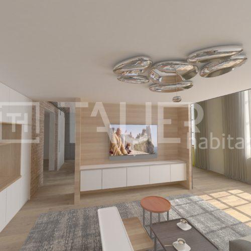 Vizualizace loftový byt od TAUER habitat 4