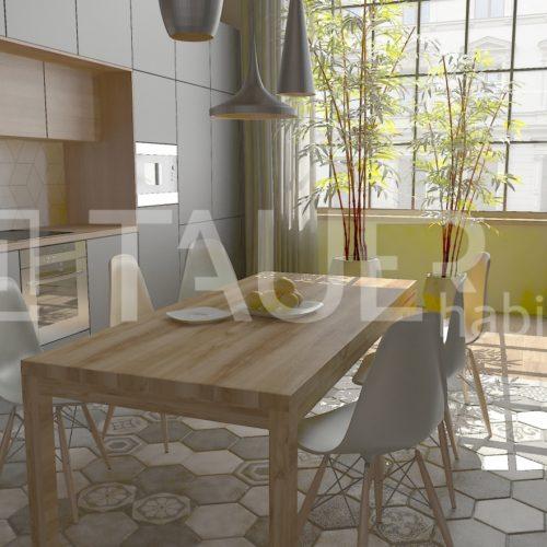 Vizualizace loftový byt od TAUER habitat 7