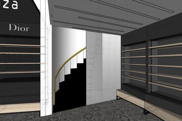 SDK stěna u schodů 1