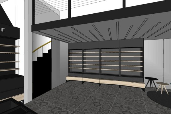 SDK stěna u schodů 3